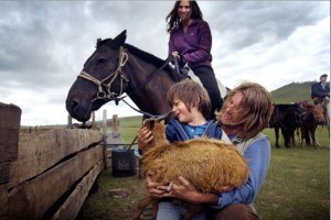 Horsing around · The Horse Boy follows the Isaacsons' struggle to raise their autistic son, Rowan. The family travels to Mongolia, where Rowan meets shaman healers and discovers his connection with horses. - Photo courtesy of Justin Jin