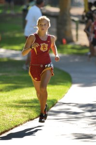 Her time · USC coaches expect a big race from Bridget Helgerson. - Courtesy of USC Sports Information