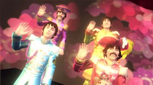 """Hello Goodbye · The Beatles: Rock Band is the latest installment from the Rock Band series. The game covers the entirety of The Beatles history, from the band's early days in Britain to its extreme popularity in America and later psychedelic phase. Featured in the game are No. 1 singles like """"I Want to Hold Your Hand"""" and lesser-known tracks like """"And Your Bird Can Sing."""" - Photo courtesy of Harmonix Music"""