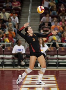 It all connects · The Women of Troy will be counting on libero Alli Hillgren to control the passing game to set up USC's blocking scheme. - Ian Elston | Daily Trojan