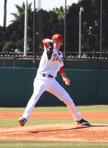 Strong start · In his college debut, freshman pitcher Kyle Twomey gave up three earned runs in 6.1 innings with four strikeouts and just one walk. - Ralf Cheung   Daily Trojan