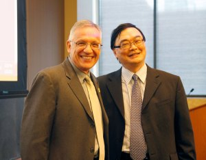 Global learning · Viterbi Dean Yannis C. Yortsos and Professor Stephen C. Lu joins forces to expand the iPodia Global Program.  - Courtesy of the Viterbi School of Engineering