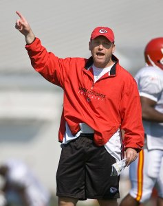 Looking up · USC Defensive Coordinator Clancy Pendergast has plenty of experience, including a yearlong stint with the Kansas City Chiefs. - Courtesy of Kansas City Star