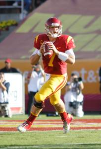 Who will it be? · Matt Barkley's draft stock has fluctuated over the past few months, but the consensus among NFL pundits is he will end up as a first- or second-round draft pick when it's all said and done.  - Carlo Acenas | Daily Trojan
