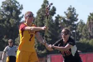 Leading the attack · Freshman Amanda Johansen (above) scored a game-high four goals in USC's 12-11 victory over the SDSU Aztecs.  - Ralf Cheung   Daily Trojan