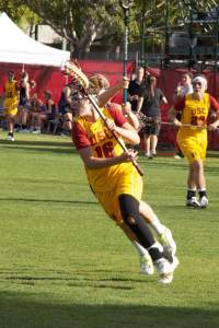 New beginning · Freshman midfield Paige Bonomi, fourth on the team in points with 42, hopes to lead the Women of Troy to an upset over Denver. - Ralf Cheung | Daily Trojan