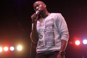 Laugh Out Loud· SNL comedian Jay Pharoah gets laughs from the crowd with his impression of Will Smith in The Fresh Prince of Bel-Air. - Anna Schwartz  Daily Trojan