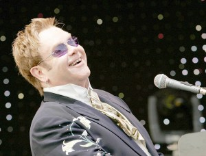 Rocket man ·Iconic singer/songwriter Elton John, pictured at a prior performance, performed at USC's Bovard Auditorium on Monday in an event sponsored by Visions and Voices and the USC Thornton School of Music. - Photo courtesy of  Magic 107.5 FM