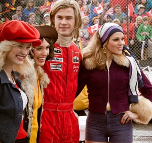 Crossing the finish line · The Ron Howard-directed Rush takes a different approach to the racing film genre, choosing to emphasize the psychology behind Formula 1 drivers while also including thrilling racing scenes. - Courtesy of NBC Universal