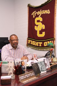 Trojan pride · USC alumnus and California State Assemblymember Reggie Jones-Sawyer speaks to the Daily Trojan in his office on Tuesday. - Austin Vogel | Daily Trojan