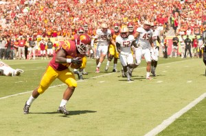 Out in the open · Redshirt sophomore tailback Tre Madden was declared the full-time starter at tailback on USC's depth chart this week for the first time after running for 100 yards in each of the Trojans' first three games. - William Ehart | Daily Trojan