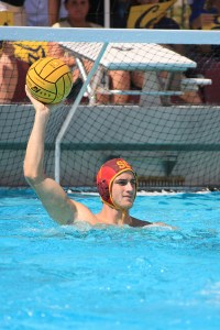 Brick wall · Even though USC let up a season-high nine goals versus UCLA, USC senior goalie James Clark has averaged just 5.0 goals against. - Daily Trojan file photo
