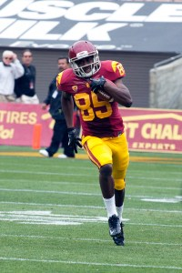 New faces · Redshirt sophomore receiver Victor Blackwell has been getting starter reps despite having only three career receptions. - Ralf Cheung | Daily Trojan