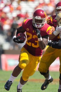 Workhorse · In his first season as a college running back, redshirt sophomore Tre Madden is ranked fifth in the nation in carries per game. - Ralf Cheung | Daily Trojan