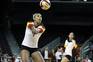 Instant impact · Freshman outside hitter Ebony Nwanebu has been honored twice already this season as the Pac-12 Freshman of the Week. She ranks second among USC's regular starters in kills per set (3.18). Nick Entin | Daily Trojan