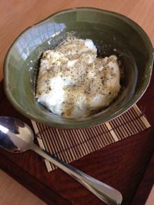 Panna notta · Kimukatsu's panna cotta doesn't actually taste like the beloved Italian dessert, and its texture is reminiscent of paste. - Euno Lee | Daily Trojan