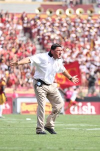 Not so fast · Interim head coach Ed Orgeron has incredibly turned USC's season around, but he is not the best choice to permanently lead the team. — Razan Al Marzouqi | Daily Trojan