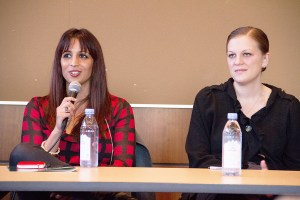 "Initiative for civic participation · On Friday, panelists from the ""Lean In"" event discussed the importance of encouraging women to participate in politics and student government at the Ronald Tutor Campus Center. - Austin Vogel 