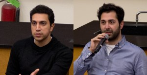 Swipe Right · Tinder co-founders Sean Rad (left) and Justin Mateen (right) returned to their alma mater to discuss their popular app. The creators encouraged students to take advantage of their college experiences. - Nick Entin   Daily Trojan
