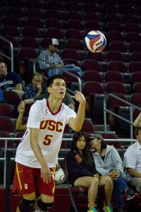 Good service · Junior setter Micah Christenson has tallied 147 assists in the Trojans' three wins over Loyola-Chicago, UC San Diego and UC Irvine.  Joseph Chen | Daily Trojan