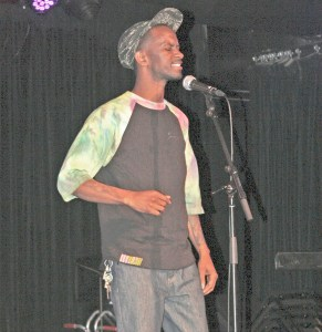 Rhyme time · Judah 1, a slampoet from Pomona, performed a piece about black identity at Ground Zero on Tuesday evening. - Maral Tavitian | Daily Trojan