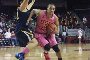 """The """"X"""" factor · Junior guard Alexyz Vaioletama's 18-point effort carried USC to a 54-45 win over Arizona last month. Vaioletama, who only averages 8.5 points per game, will have to step up in this week's Pac-12 Tournament. - Ricardo Galvez 