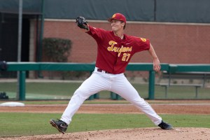 Valiant effort · USC senior LHP Bob Wheatley went 6.2 strong innings in Sunday's loss to UCLA, giving up just one unearned run and not earning a decision. Wheatley remains 2-0 in five appearances so far this season.  - Ralf Cheung | Daily Trojan