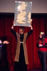 Austin Kolodney, a senior majoring in film production, won a map of Westeros in a costume contest for before the screening.  Kolodney dressed as 'Game of Thrones' character Petyr Baelish. – Austin Vogel | Daily Trojan