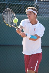 Streaking · Junior Roberto Quiroz  has won seven consecutive singles matches and has put together an 11-1 record in dual matches this season. - Ralf Cheung | Daily Trojan