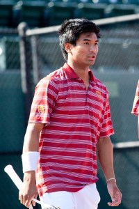Team effort · Senior captain Ray Sarmiento dropped back-to-back singles matches this weekend, but the Trojans still earned two victories. - Ralf Cheung | Daily Trojan