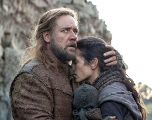 Perfect storm · Noah, played by Russell Crowe, and his family struggle to survive an apocalyptic deluge — and each other — in director Darren Aronofsky's new, bold biblical epic Noah, due on Friday. - Photo courtesy of Fox News