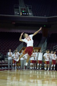 Young gun · Freshman outside Lucas Yoder, who leads the Trojans in kills per set (4.04), racked up a team-high 19 kills against Pepperdine.  - Tucker McWhirter | Daily Trojan