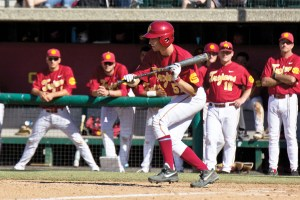 Catch a break · Junior catcher Garrett Stubbs is the only Trojan to have started every game for USC this season. Through 37 contests, the Del Mar, Calif. native is batting .291 and has stolen four bases. - Joseph Chen | Daily Trojan