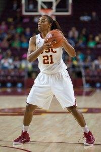 V for Victory · Senior forward Alexyz Vaioletema, one of USC's returning team captains, averaged 8.6 points per game last season. - Brian Ji | Daily Trojan
