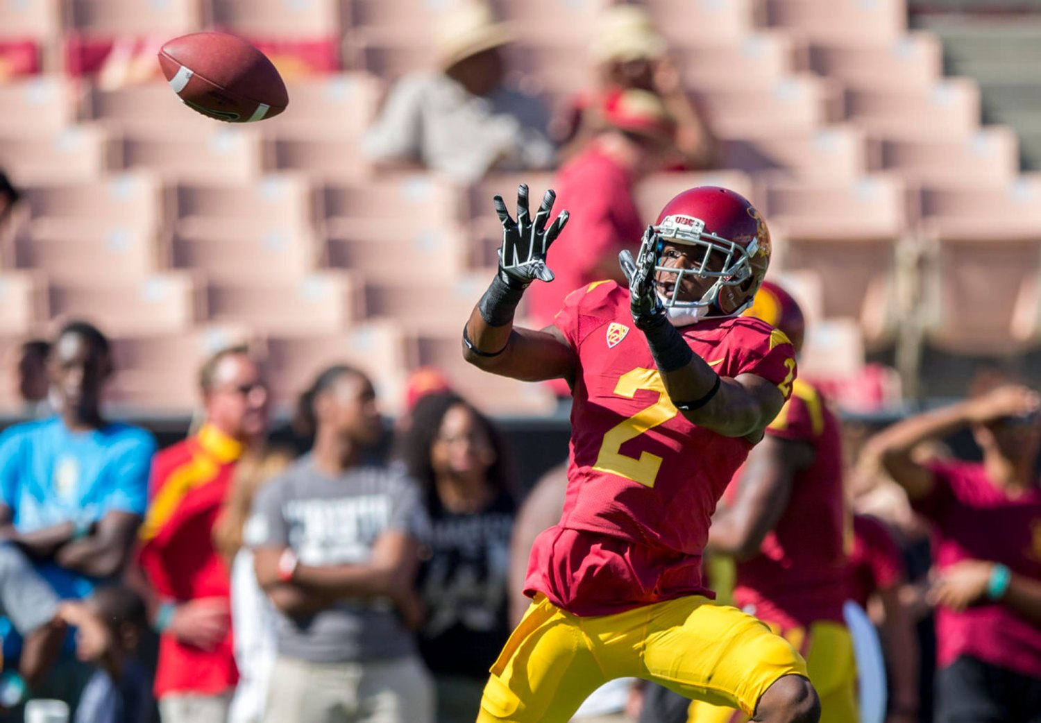 Just around the corner · Sophomore cornerback Adoree' Jackson had 49 tackles, 10 deflections and one forced fumble on defense in addition to his success as a wide receiver and kick returner in his breakout freshman season.  - Daily Trojan File Photo