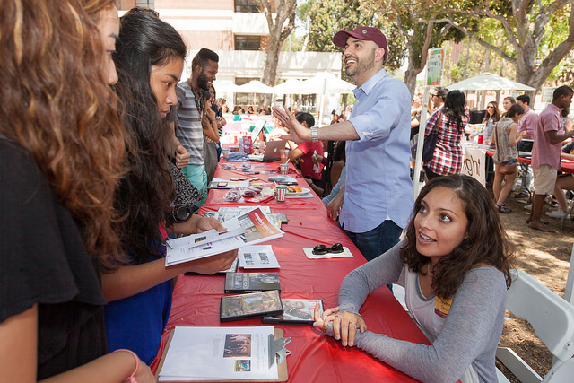 Students learn about what else they can get involved in on campus at the Taste of Annenberg event. Flickr/Creative Commons
