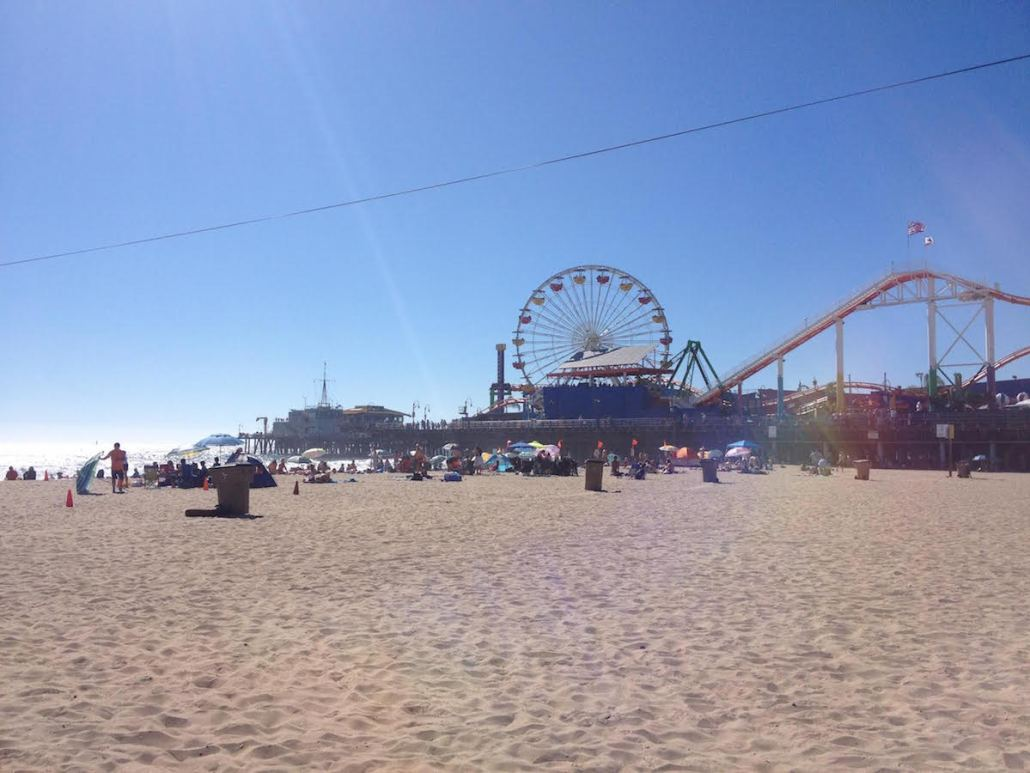 The ferris wheel is a great addition to the board walk in Santa Monica. Charlie Wulff | Daily Trojan