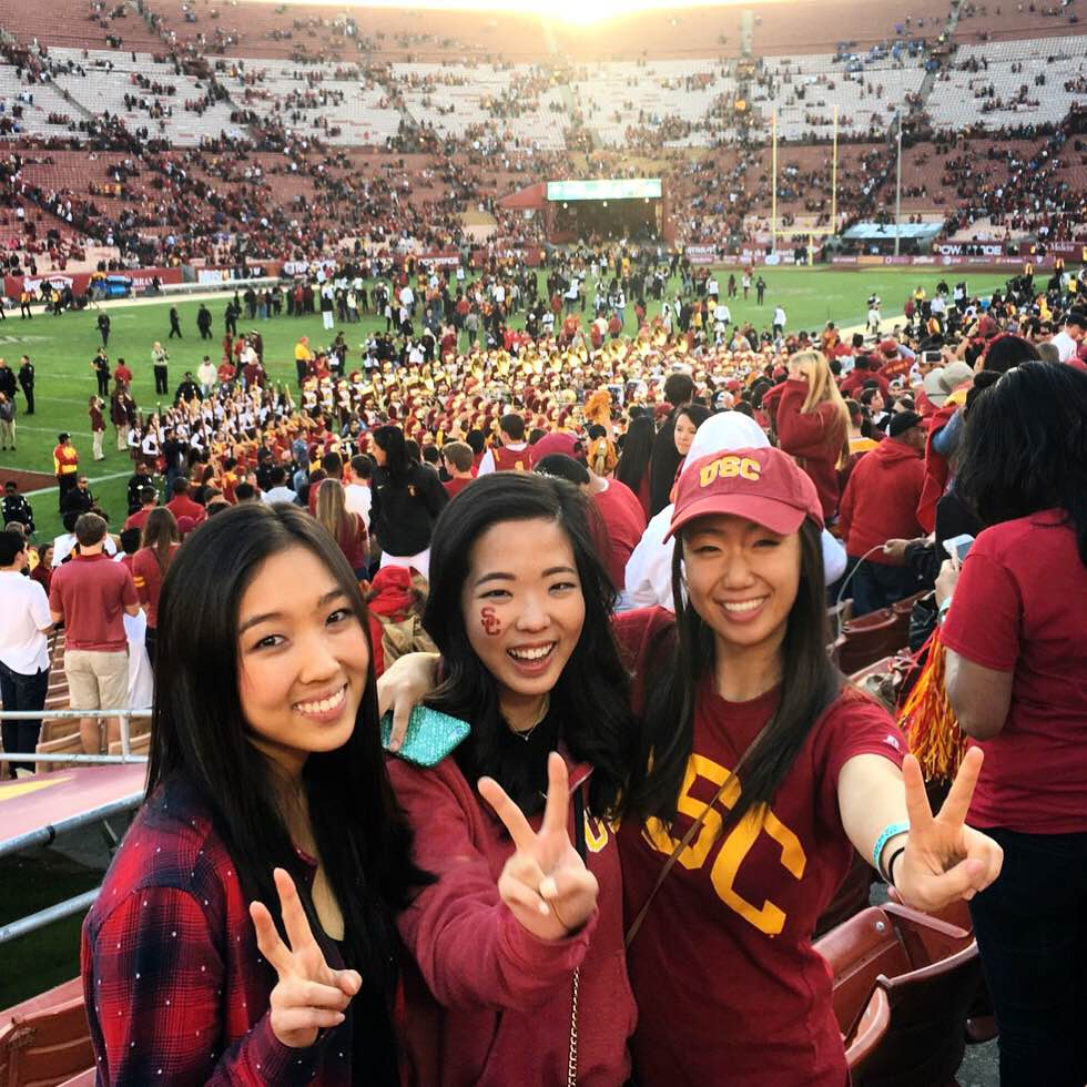 Celebrating a win over UCLA was the best way to spend Thanksgiving weekend. Photo contributed by Alina Tang | Daily Trojan