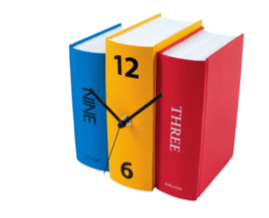 Bookshelf clock: Because your hipster friends likely still appreciate analog clocks. $32 on Amazon