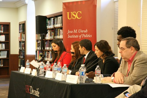 Alexandra Ting | Daily Trojan Get political · Panelists spoke on topics students said they wanted to discuss, from immigration to college tuition.