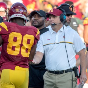 Tal Volk | Daily Trojan Top dog · First year head coach Clay Helton has turned his season around after starting 1-3, with all the losses coming away from the Coliseum. Now Helton is preparing the 6-3 Trojans to play undefeated No. 4 Washington.