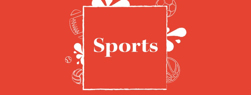 A red graphic used as stock for the sports section.