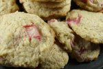 Vegan Lemon Rhubarb Cookies
