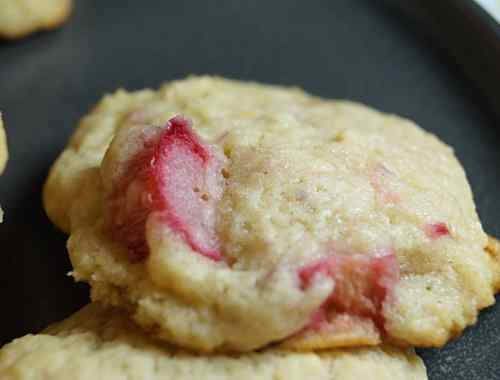 Vegan Lemon Rhubarb Cookies