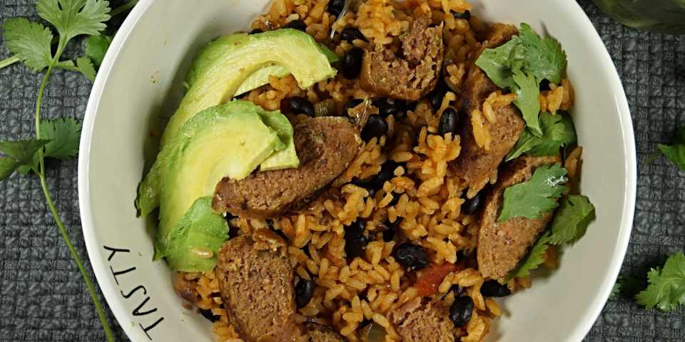 Beyond Vegan Rice and Beans – 7 Ingredients EASY