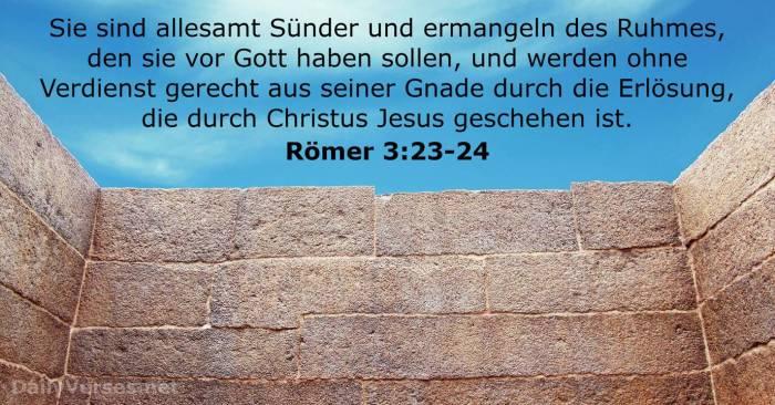 Römer 3:23-24 - Bibelvers - DailyVerses.net