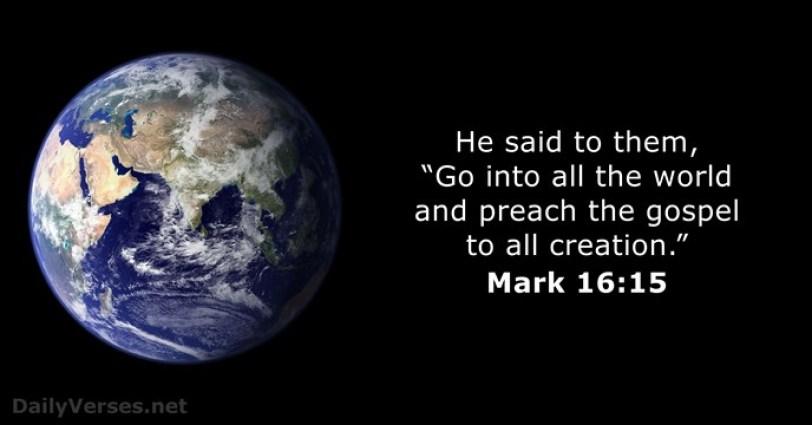 Hasil gambar untuk Mark 16:15