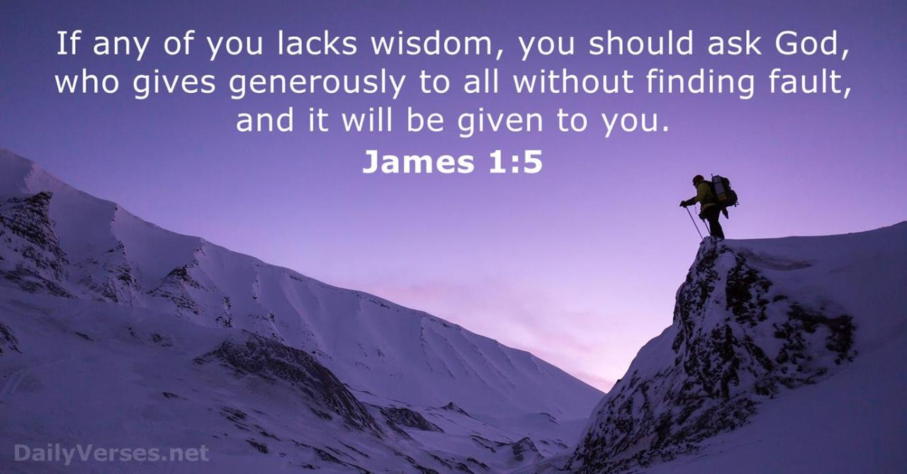 James 1:5 - Bible verse of the day - DailyVerses.net