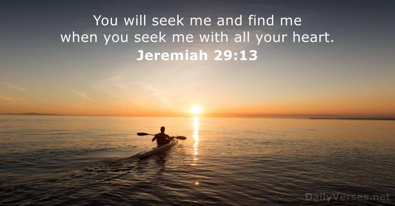 Jeremiah 29:13 - Bible verse of the day - DailyVerses.net