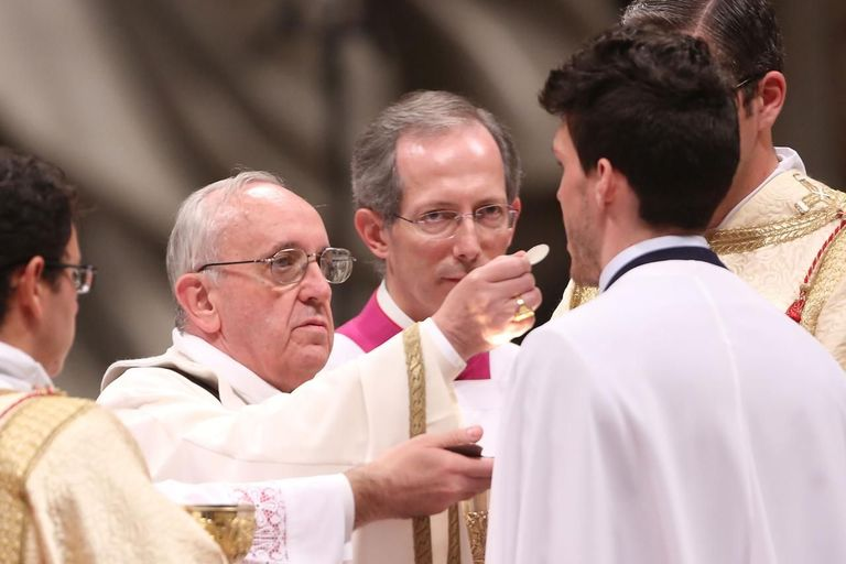pope francis communion
